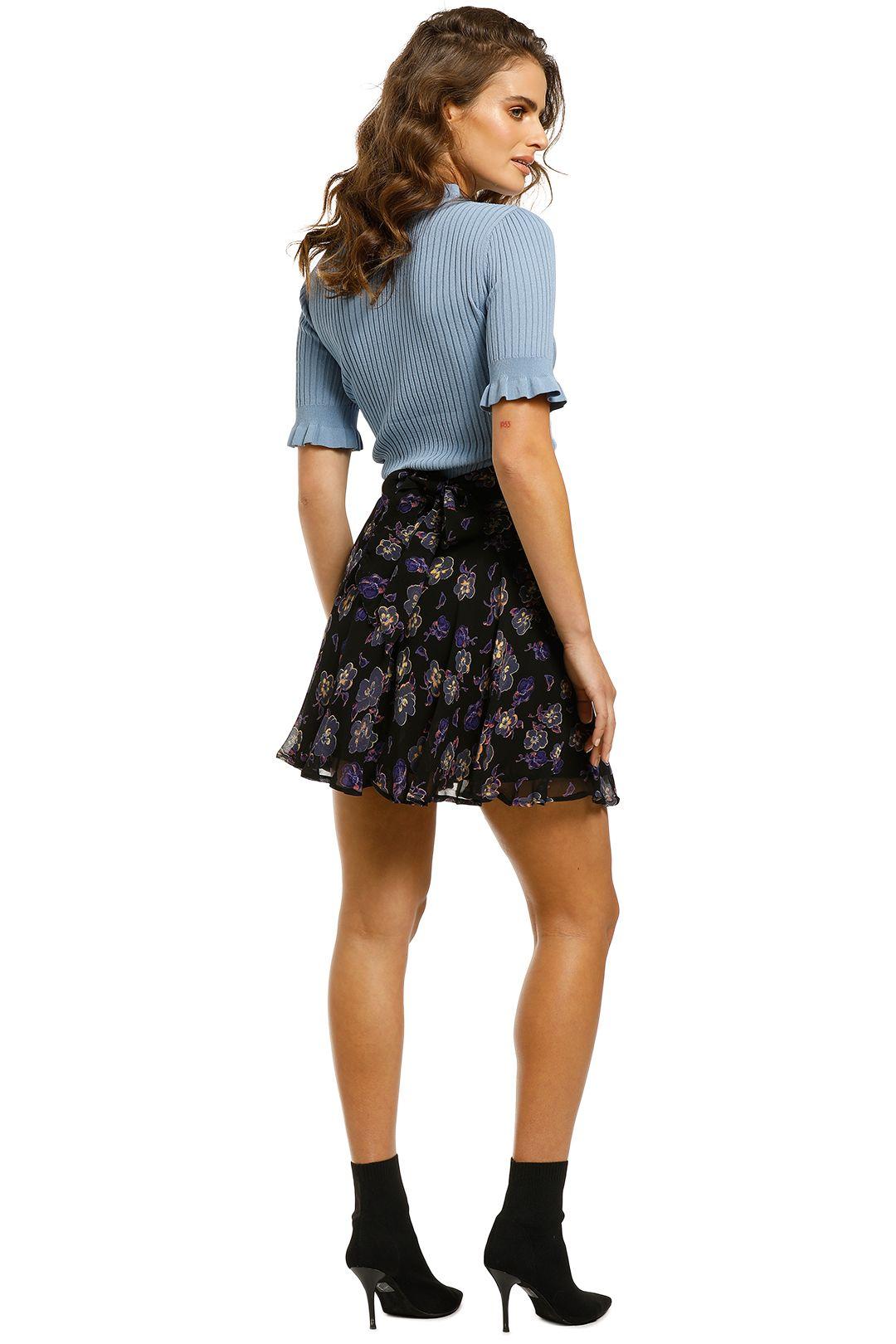 Ganni-Floral-Printed-Georgette-Skirt-Back