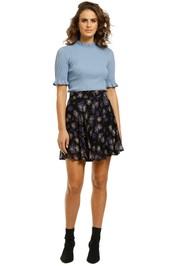 Ganni-Floral-Printed-Georgette-Skirt-Front