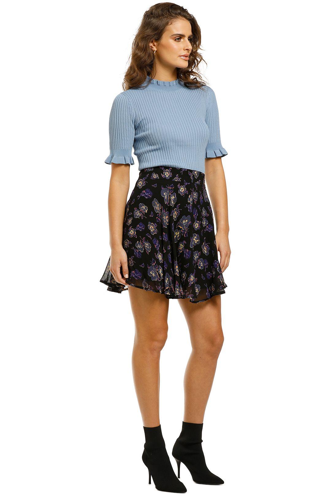 Ganni-Floral-Printed-Georgette-Skirt-Side