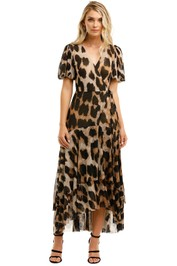 Ganni-Leo-Sleeves-Maxi-Dress-Leopard-Front