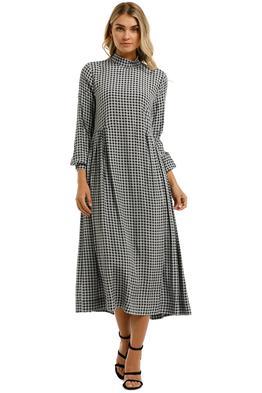 Ganni-Printed-Crepe-LS-Dress-Brunnera-Blue-Front