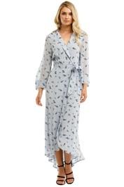 Ganni-Printed-Georgette-LS-Long-Wrap-Dress-Brunnera-Blue-Front