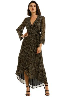 Ganni-Printed-Georgette-LS-Long-Wrap-Dress-Kalamata-Front
