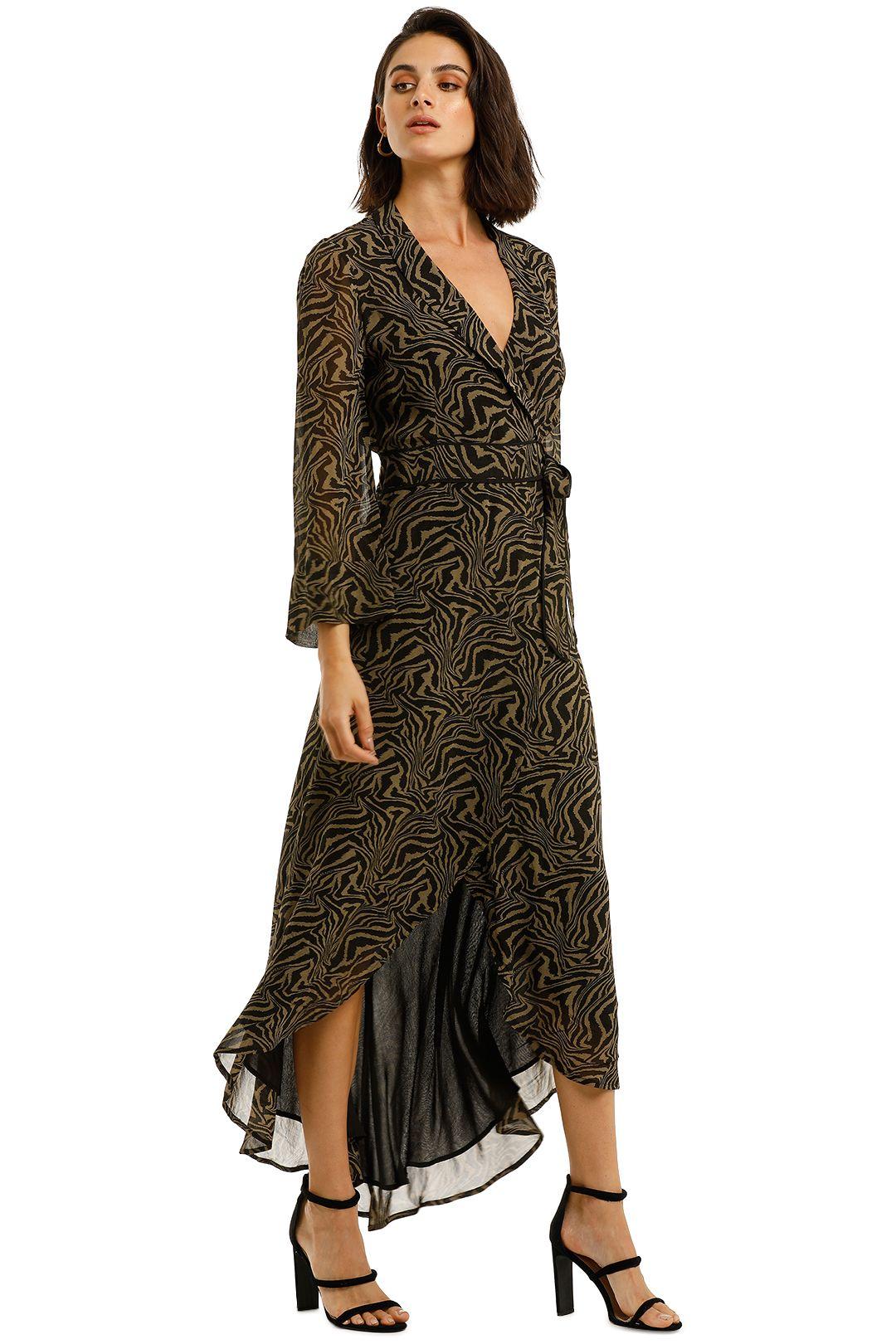 Ganni-Printed-Georgette-LS-Long-Wrap-Dress-Kalamata-Side