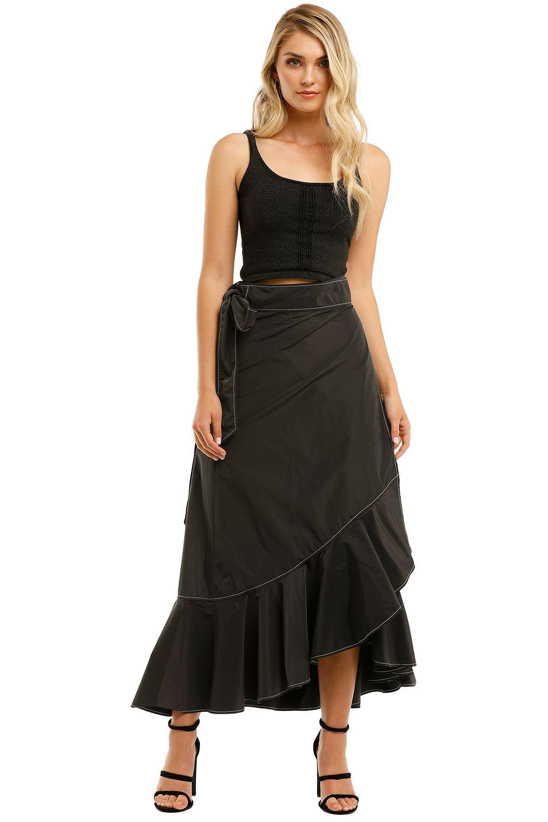 Ganni-Recycled-Long-Skirt-Phantom-Front