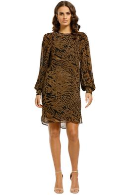 Ganni-Tiger-Print-Dress-Front