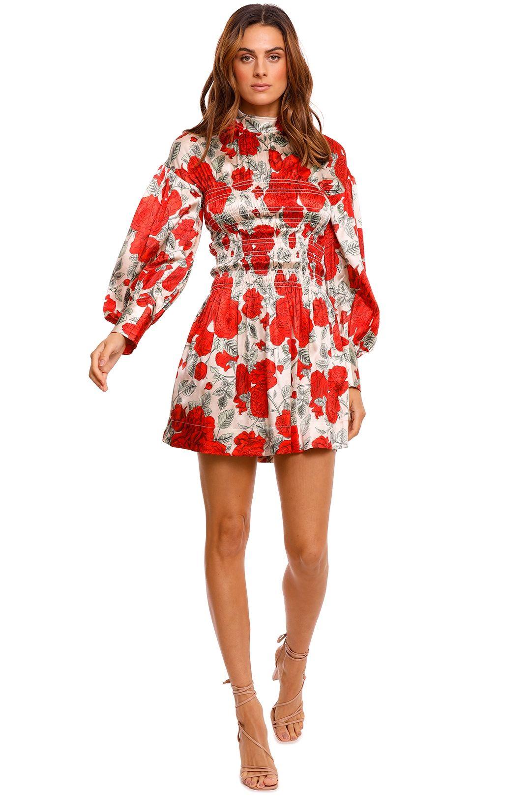 Ganni Brazilian Sand Silk Satin Mini Dress print