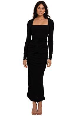 Ganni Viscose Jersey Ruched Dress