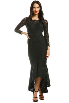 George-Sofia-Mermaid-Hem-Black-Front