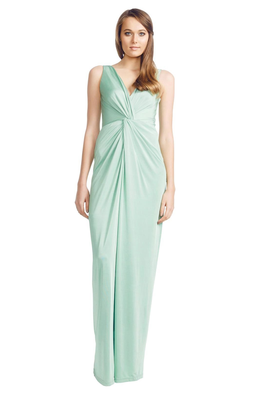George - Apple Carulli Gown - Green - Front