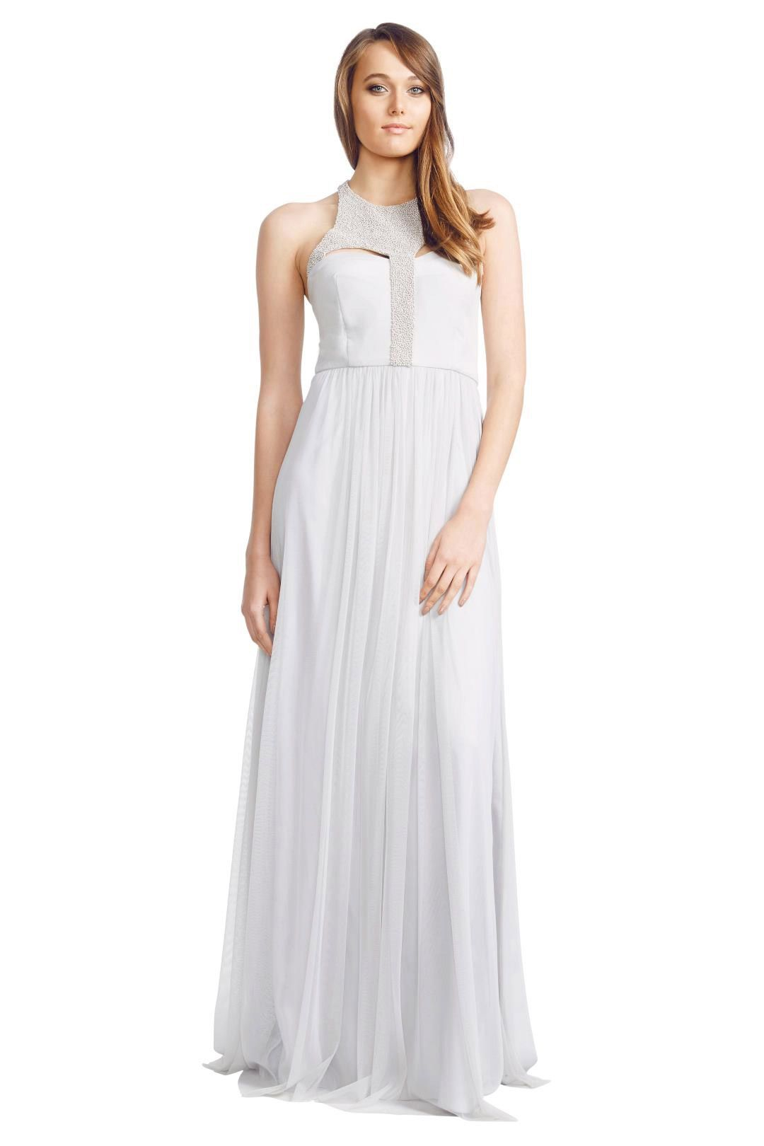 George - Arianne Gown - Grey - Front