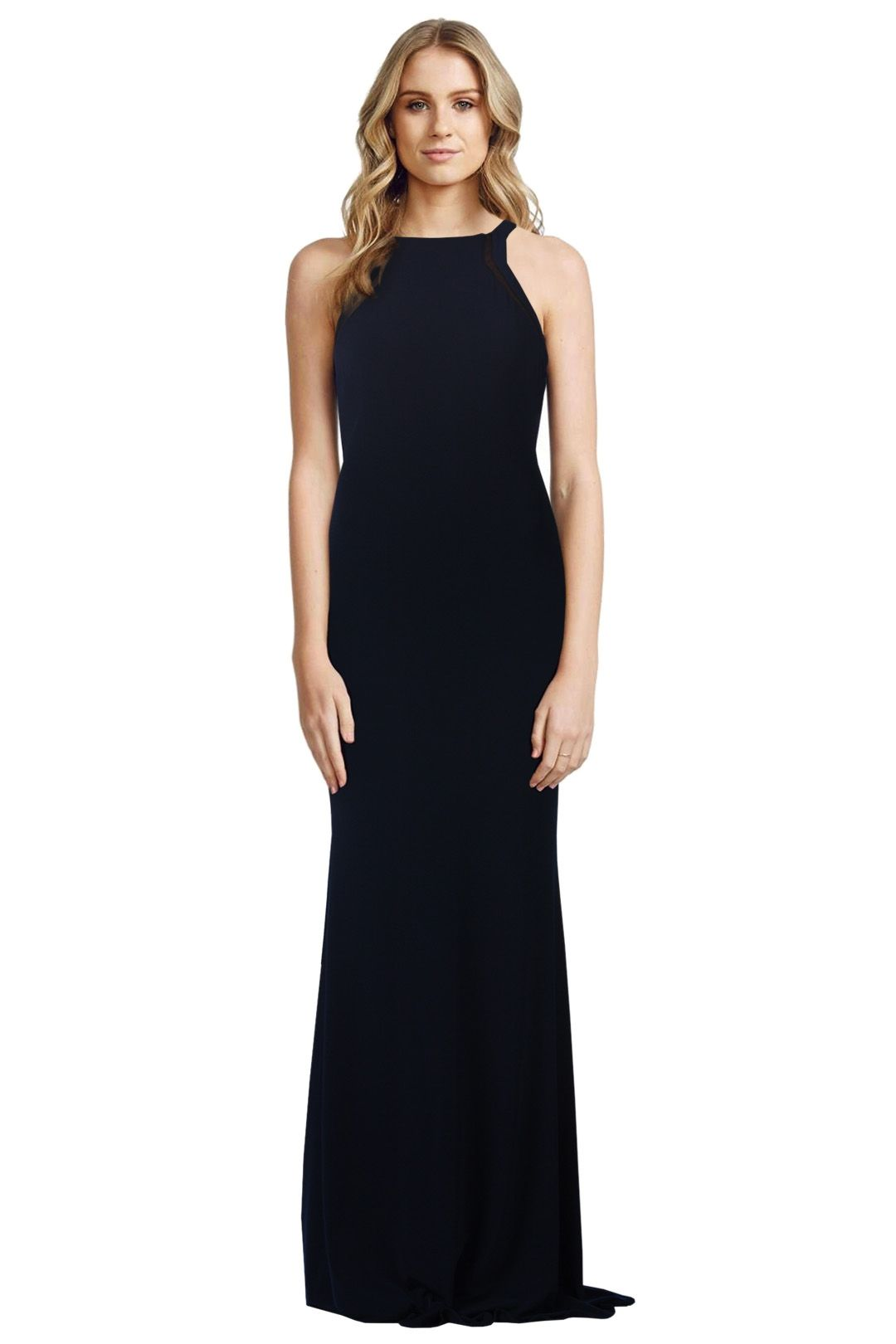 George - Athena Gown - Black - Front