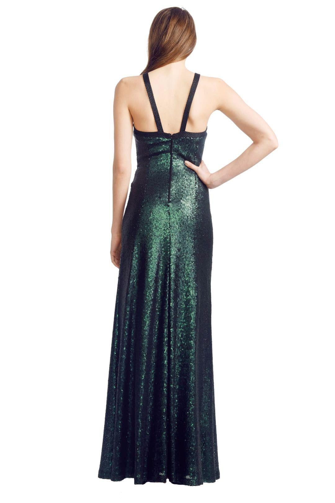 George - Emerald Luna Gown - Green - Back