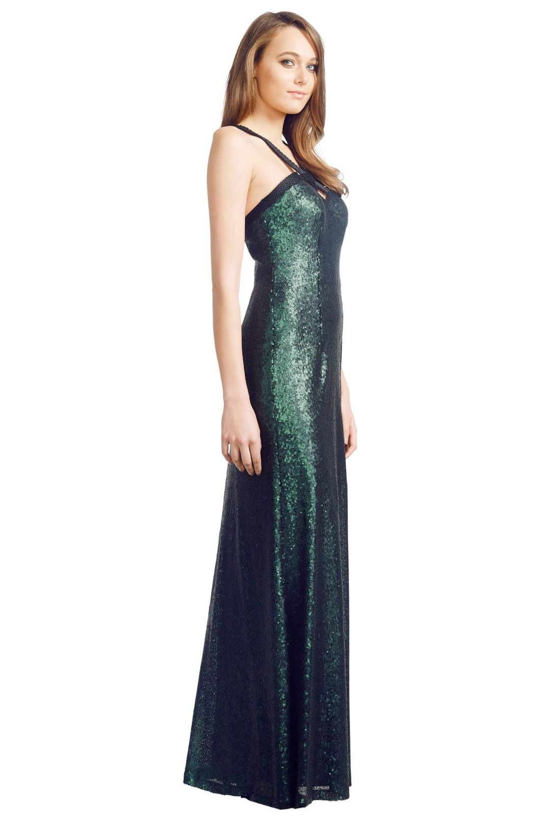 George - Emerald Luna Gown - Green - Side
