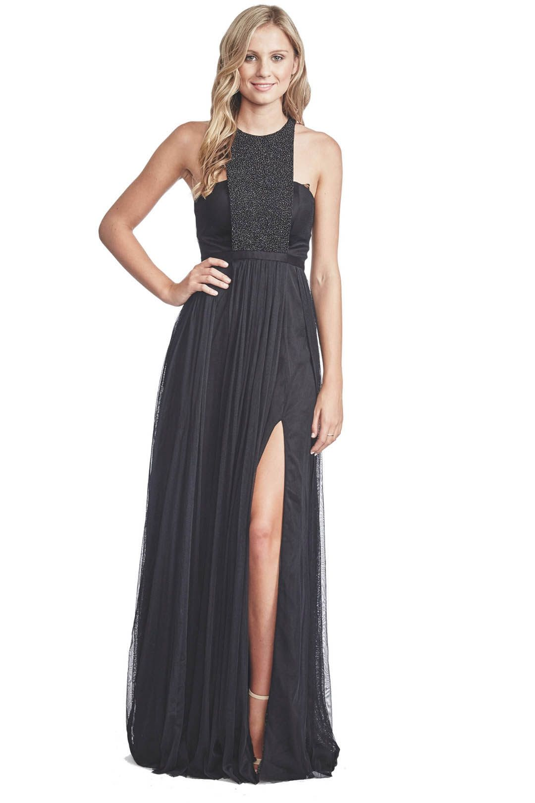 George - Morgan Gown - Black - Front