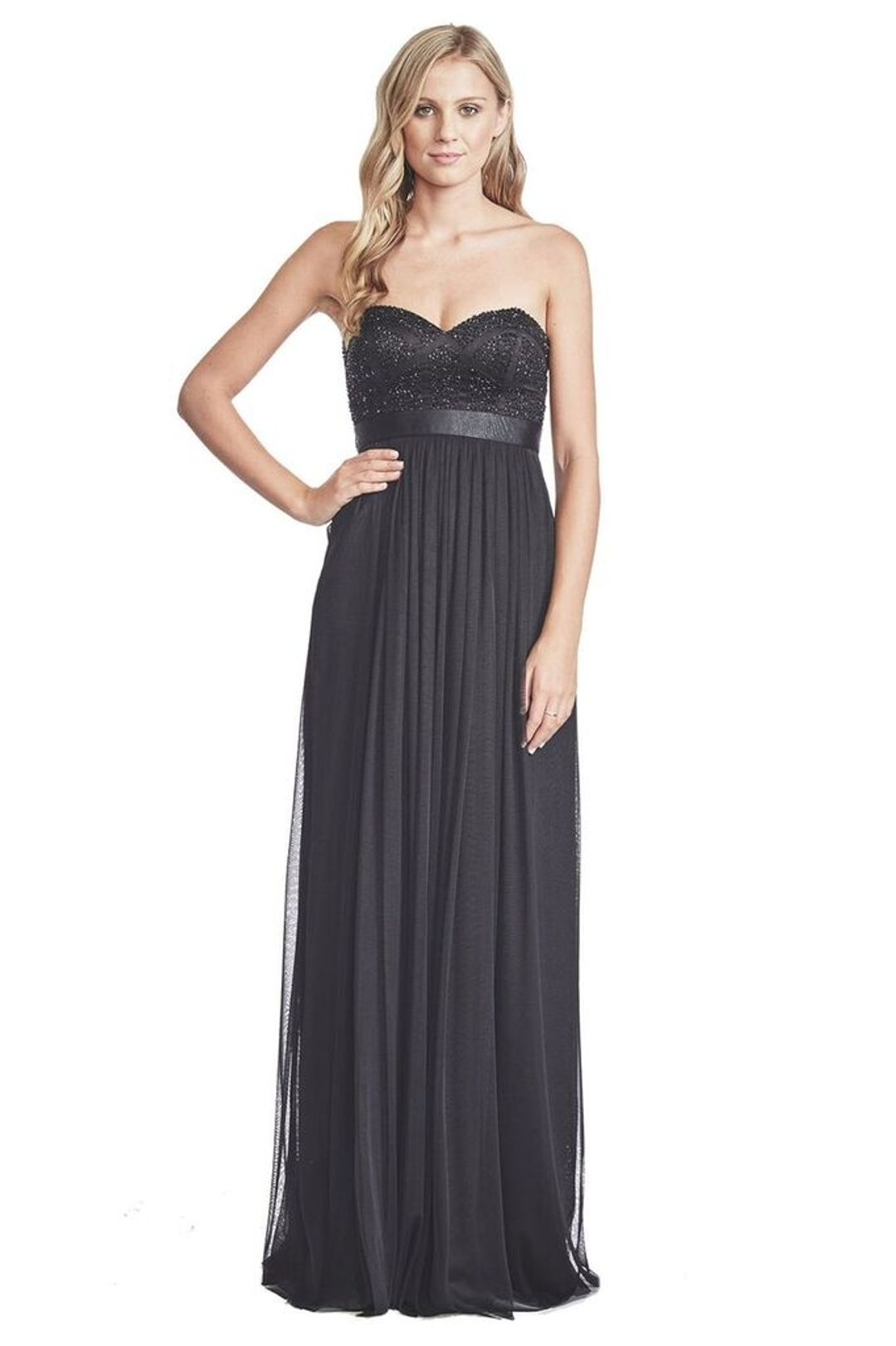 George - Pixel Gown - Black - Front