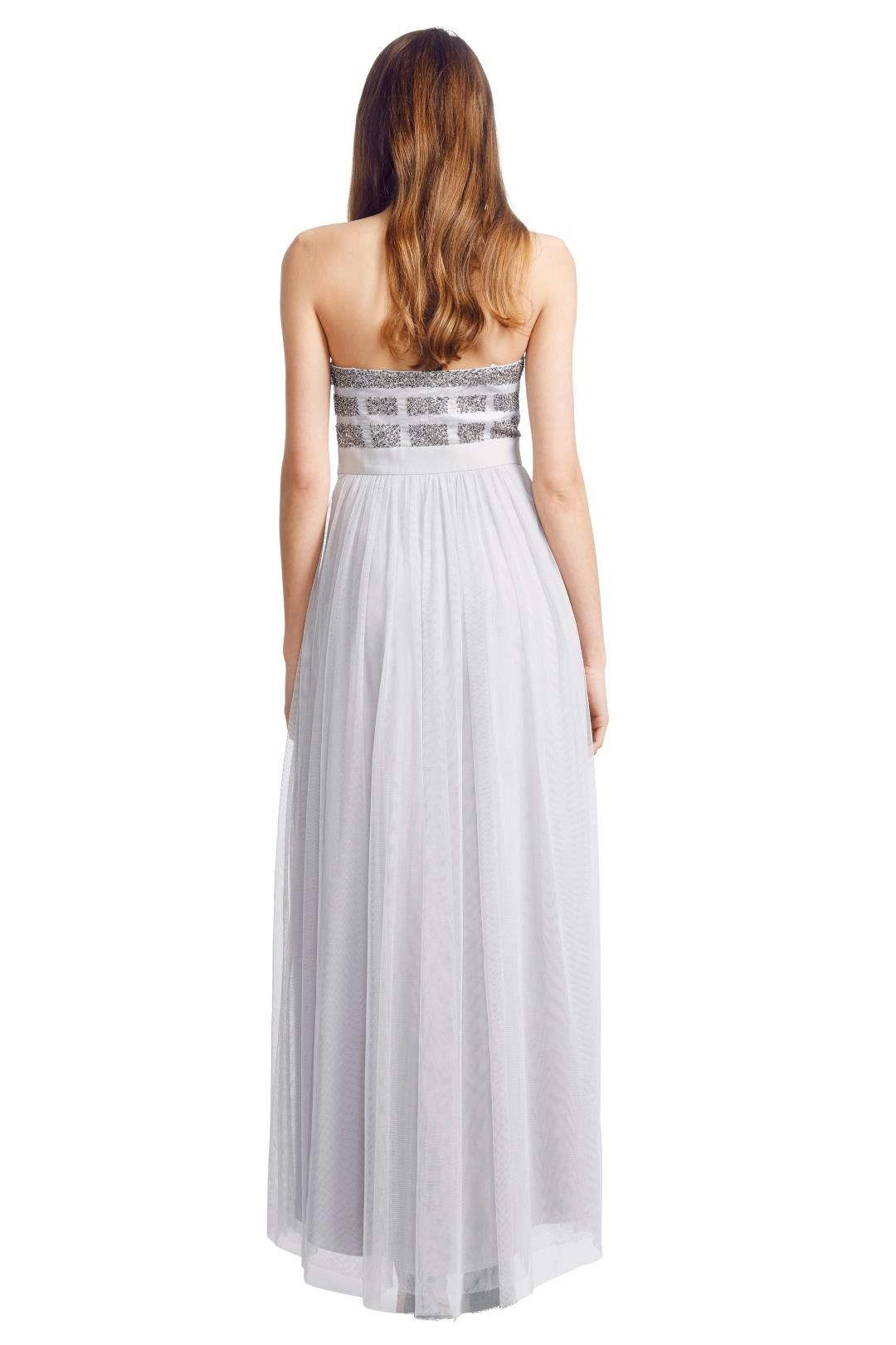 George - Pixel Gown - Silver - Back