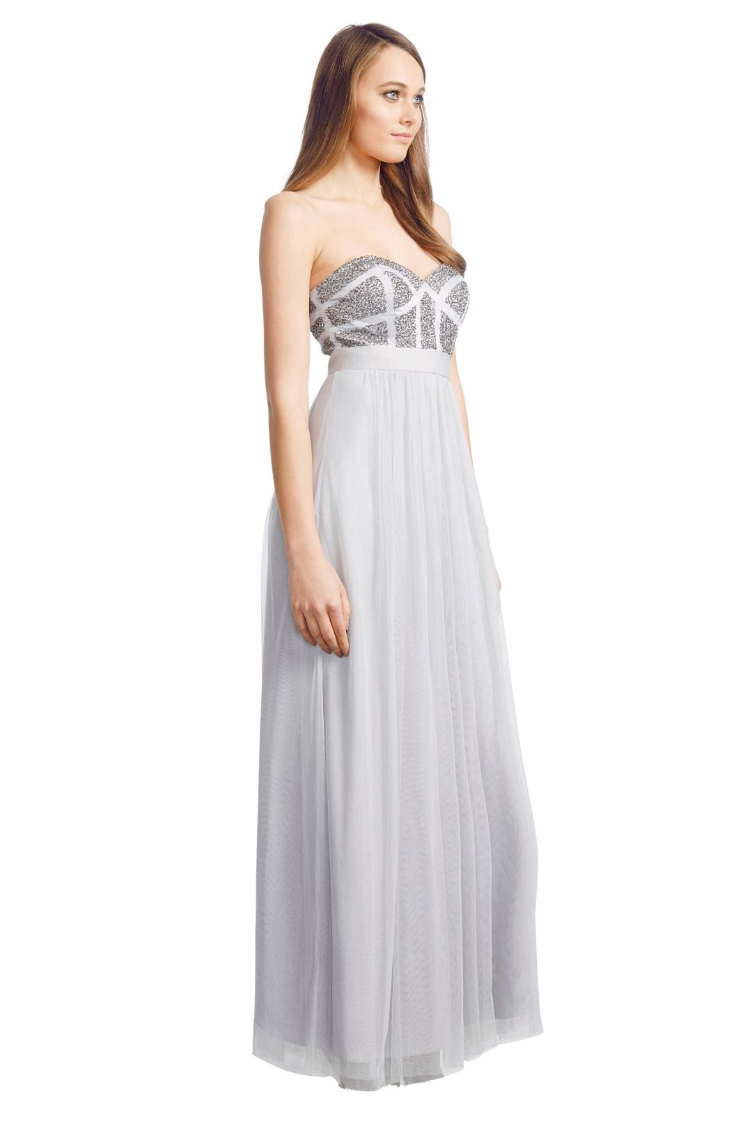 George - Pixel Gown - Silver - Side