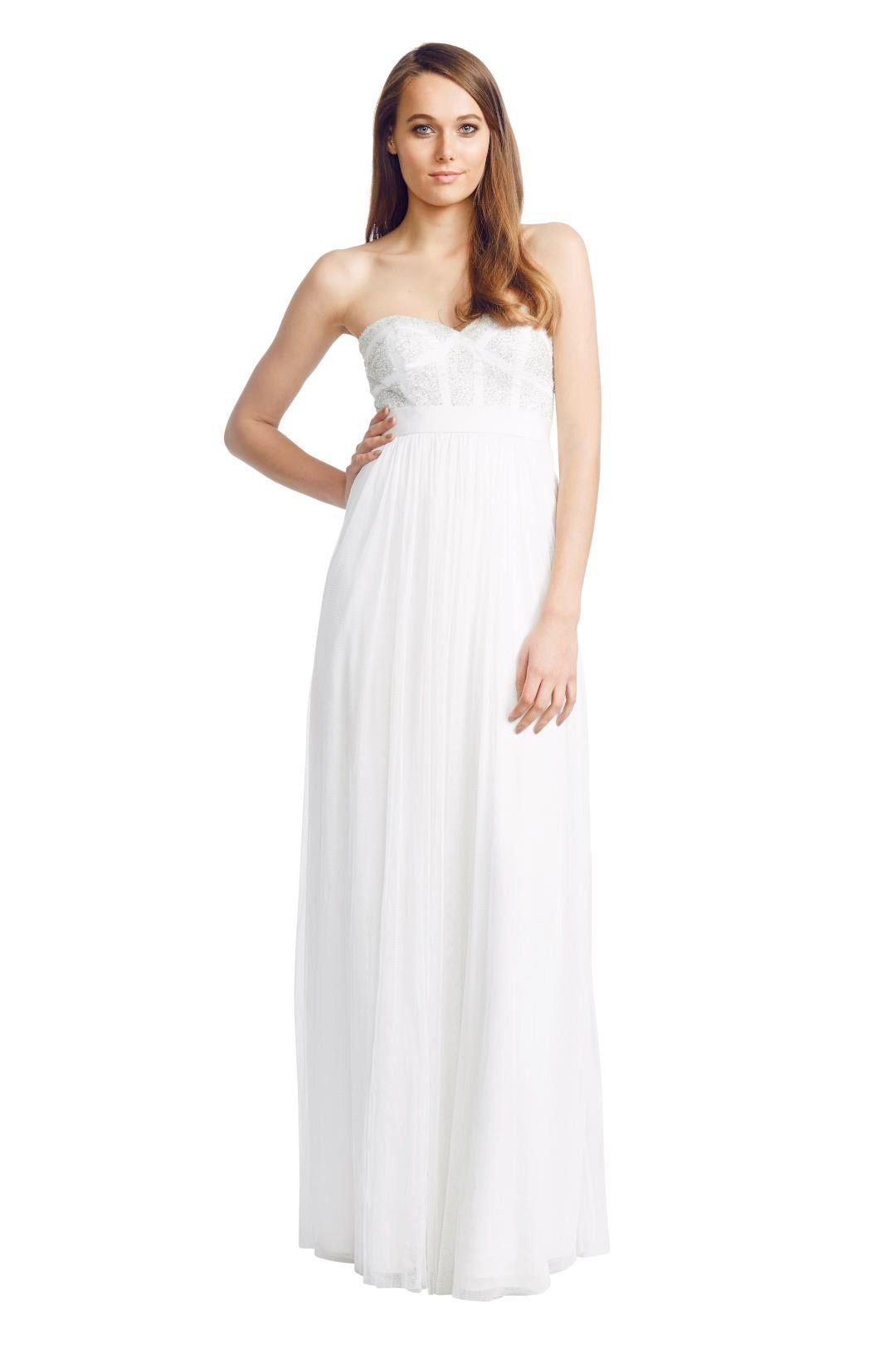 George - Pixel Gown - White - Front