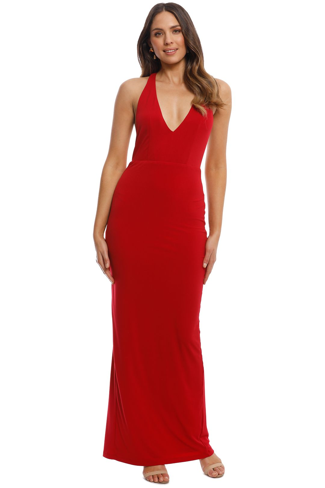 George - Priscilla Gown - Red - Front