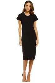 Ginger-and-Smart-Addictive-Crepe-Knit-Dress-Black-Front