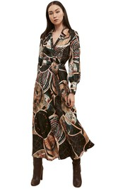 Ginger-and-Smart-Astrology-Wrap-Dress-Black-Front