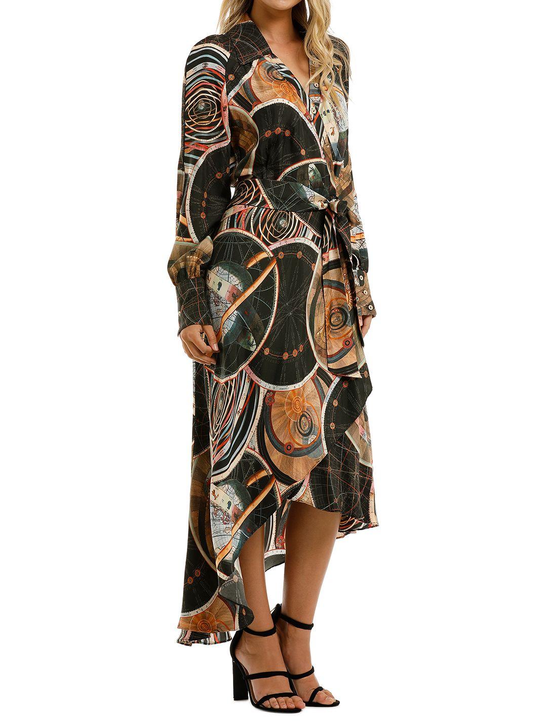 Ginger-and-Smart-Astrology-Wrap-Dress-Black-Side