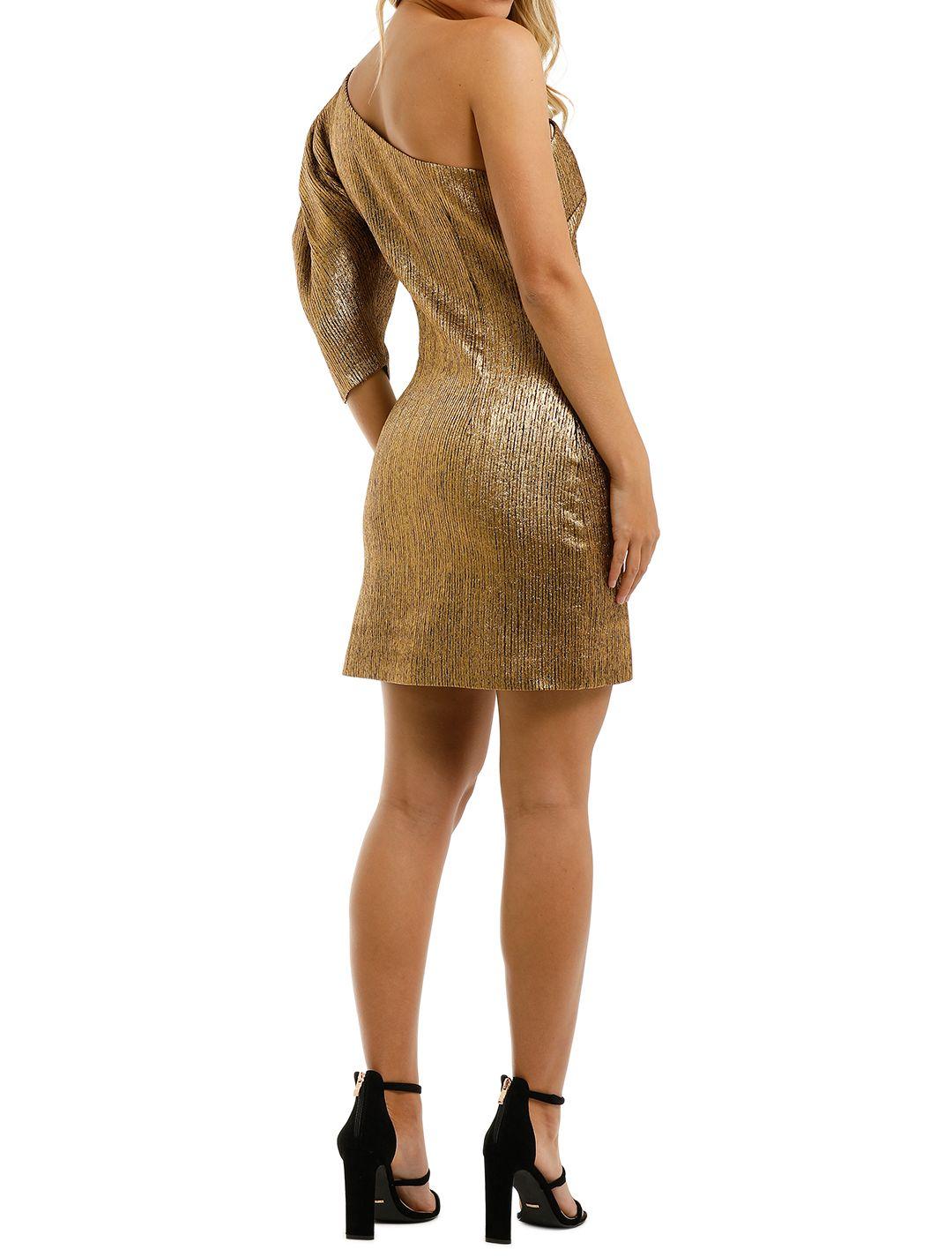 Ginger-and-Smart-Celestial-Mini-Dress-Gold-Back