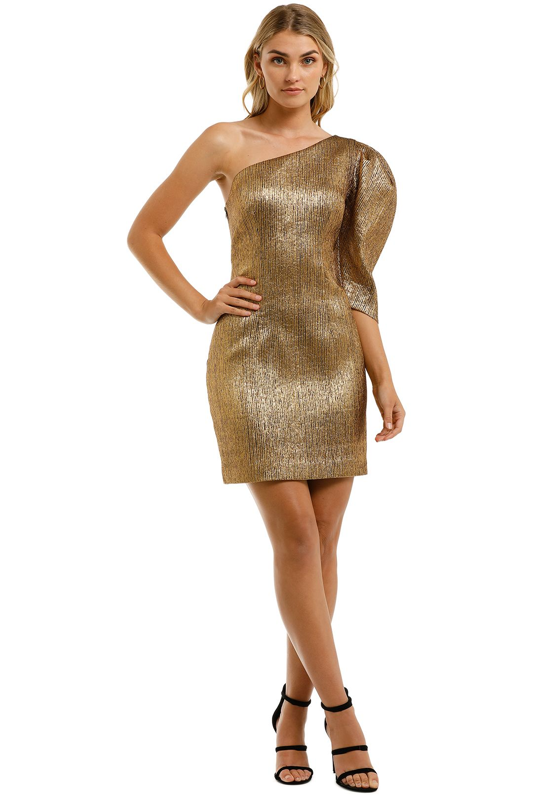 Ginger-and-Smart-Celestial-Mini-Dress-Gold-Front