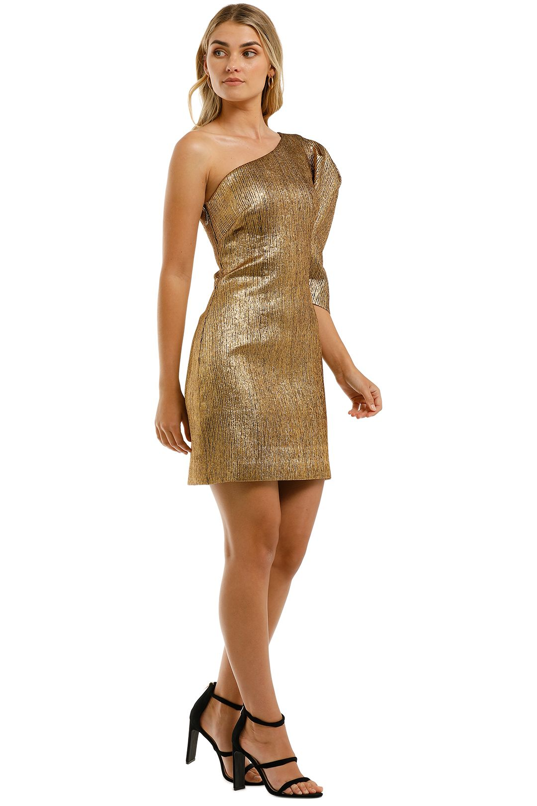 Ginger-and-Smart-Celestial-Mini-Dress-Gold-Side