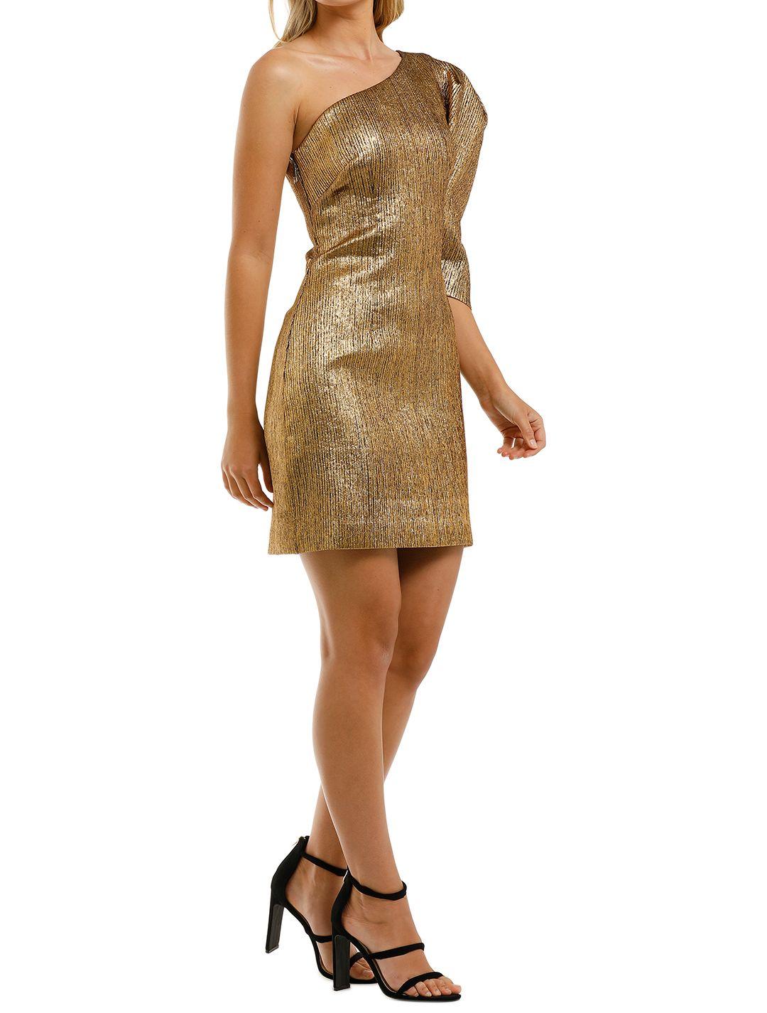 Ginger-and-Smart-Celestial-Mini-Dress-Gold-Side