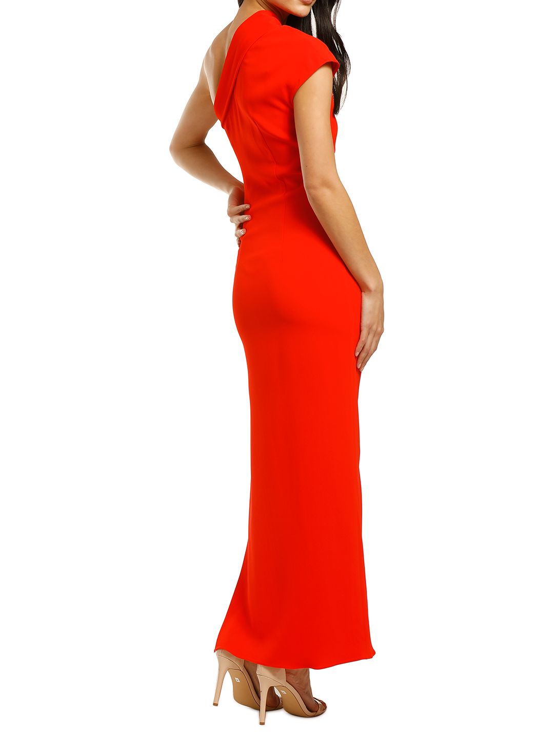 Ginger-and-Smart-Curator-Gown-Kinetic-Red-Back