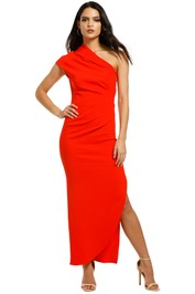 Ginger-and-Smart-Curator-Gown-Kinetic-Red-Front