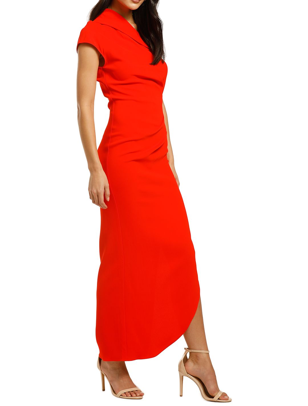 Ginger-and-Smart-Curator-Gown-Kinetic-Red-Side