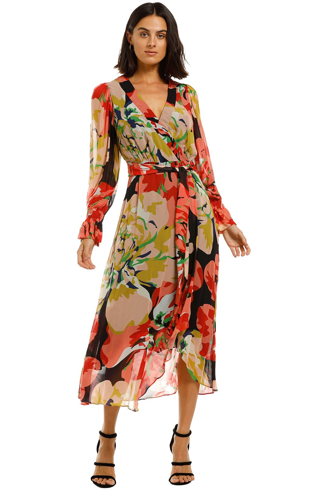 Ginger-and-Smart-Delirium-Wrap-Dress-Red-Front