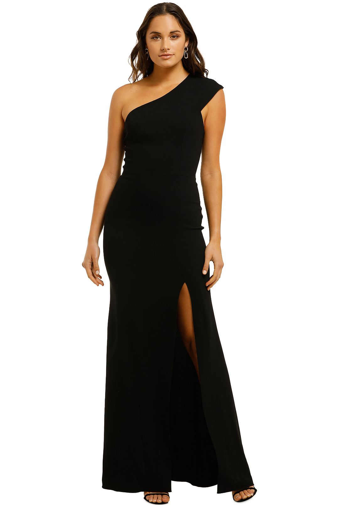 Ginger-and-Smart-Elixer-Gown-Black-Front