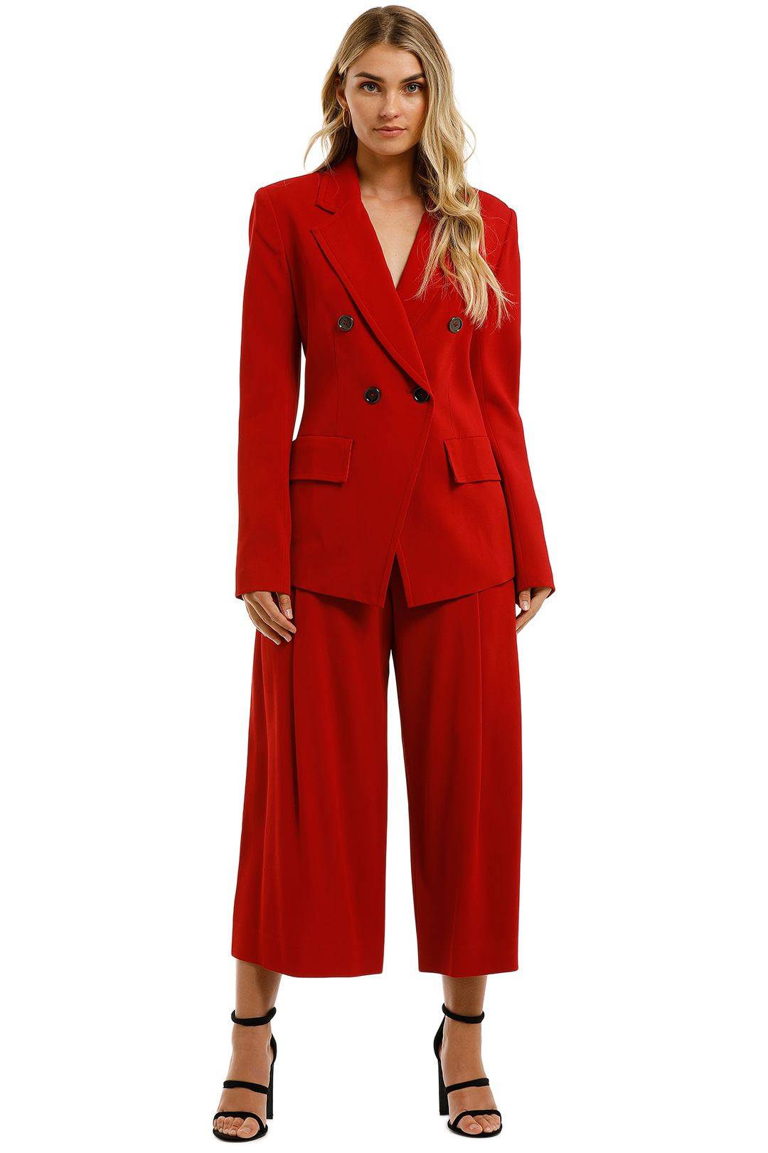 Ginger-and-Smart-Equinox-Jacket-and-Pant-Set-Scarlet-Red-Front