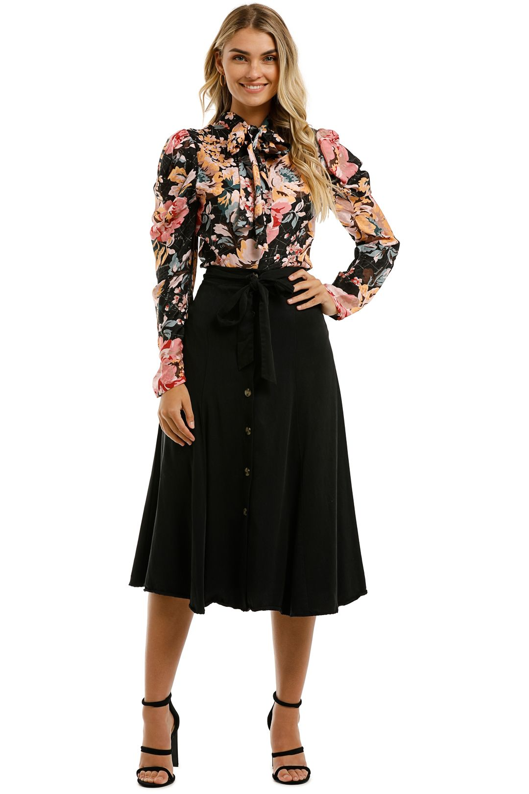Ginger-and-Smart-Floral-Charts-Blouse-Floral-Black-Front