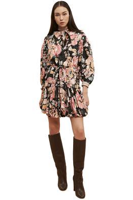 Ginger-And-Smart-Floral-Charts-Dress-Floral-Black-Front