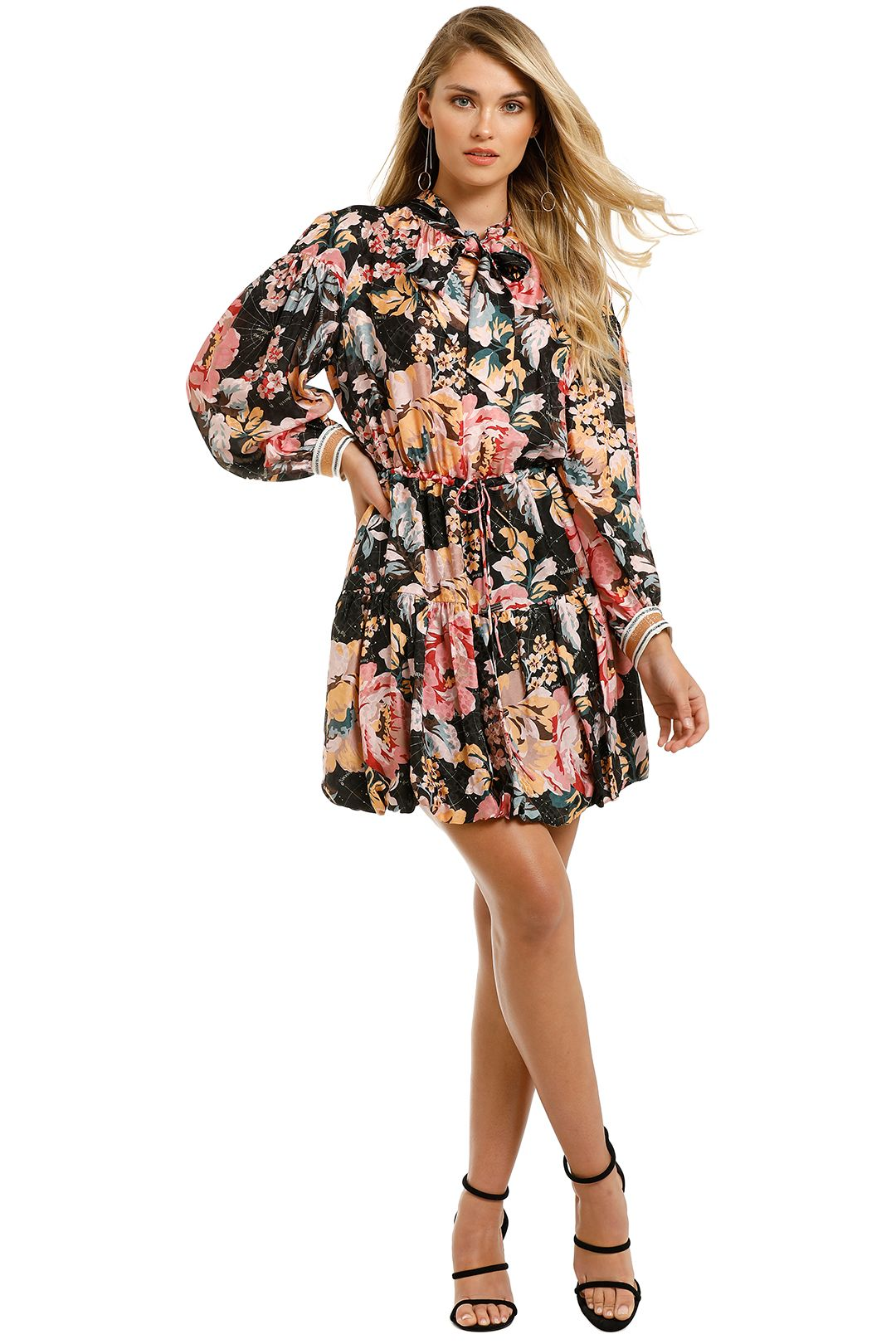 Ginger-And-Smart-Floral-Charts-Dress-Floral-Black-Front