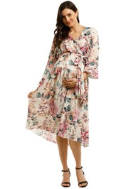 Ginger-And-Smart-Floral-Charts-Wrap-Dress-Floral-White-Front