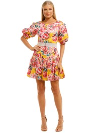 Ginger-and-Smart-Flourish-Mini-Dress-Yellow-Front