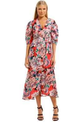 Ginger-and-Smart-Flourish-Wrap-Dress-Red-Front