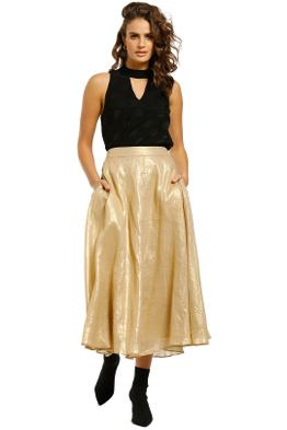 Ginger-and-Smart-Glorious-Skirt-Light-Gold-Front