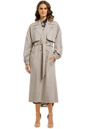 Ginger-and-Smart-Imperial-Trench-Classic-Check-Front