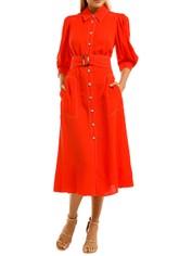 Ginger-and-Smart-Memoir-Shirt-Dress-Tango-Red-Front