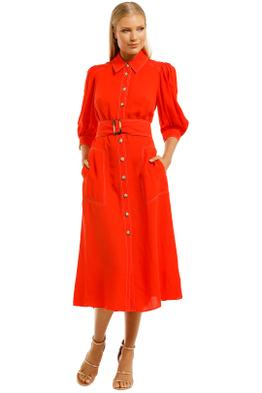 Ginger-and-Smart-Memoir-Shirt-Dress-Tango-Red-Front