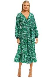 Ginger-and-Smart-Regenerate-Wrap-Dress-Green-Floral-Front