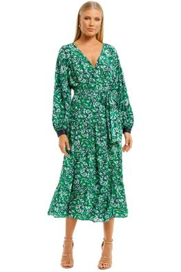 Ginger-and-Smart-Regenerate-Wrap-Dress-Green-Floral-Front