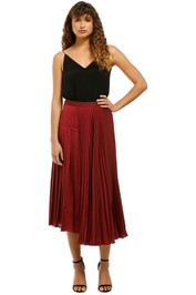 Ginger-and-Smart-Tempera-Skirt-Burgundy-Front